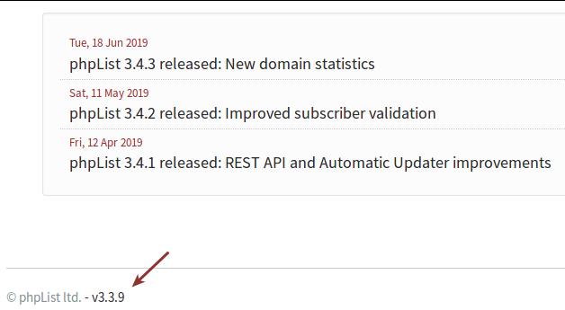 phplist-running-version