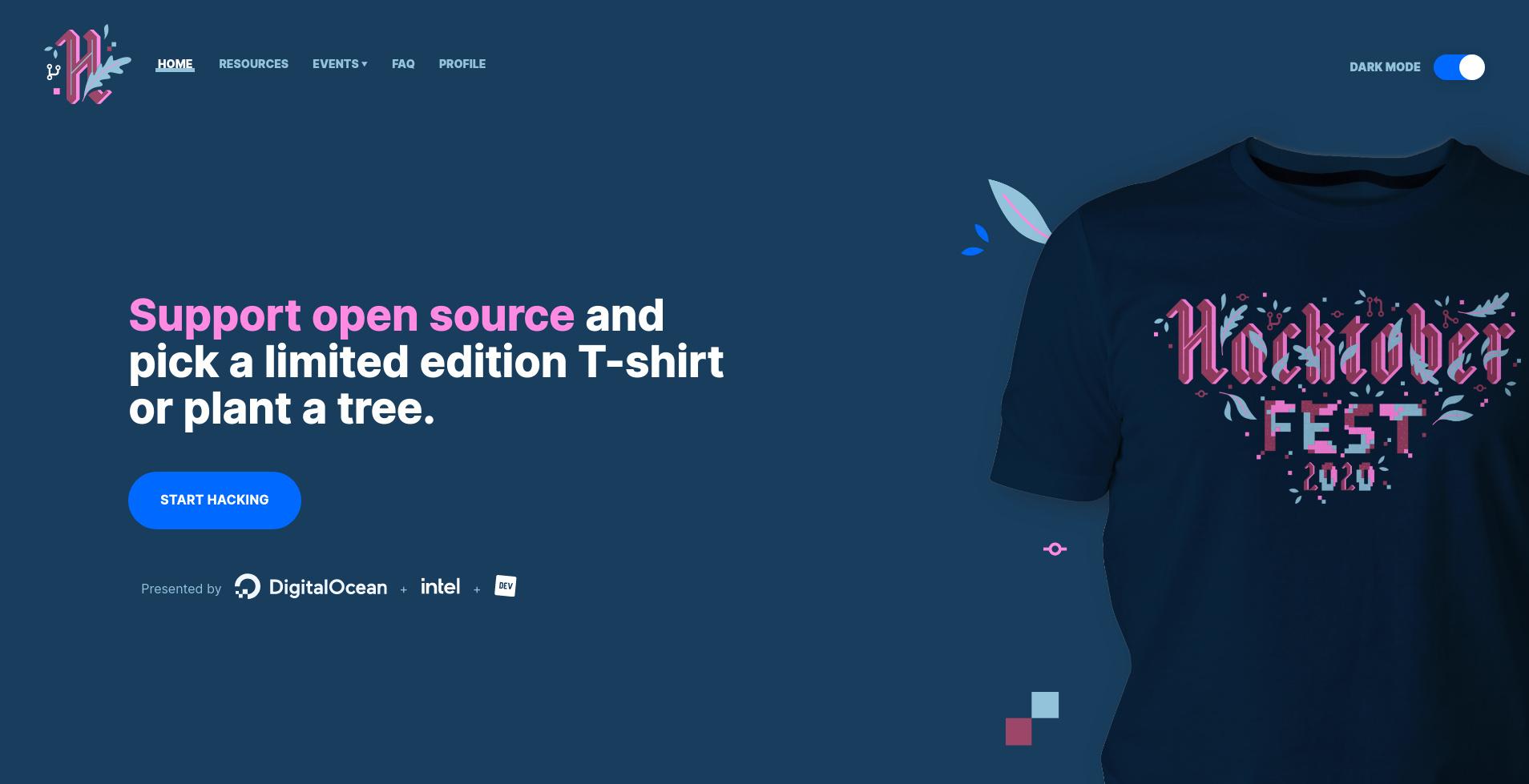 hacktoberfest - homepage