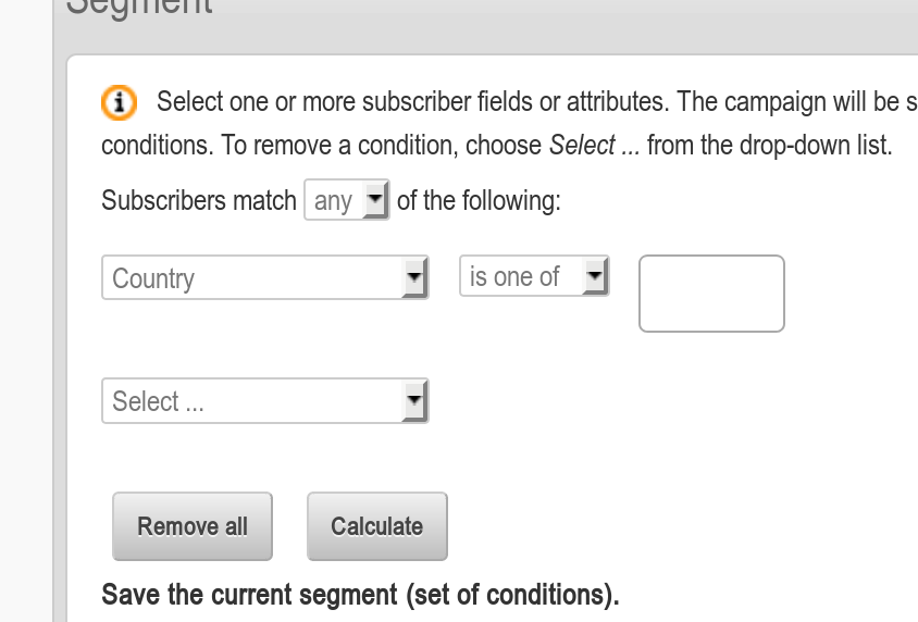 HTML select multiple input usability on Segment plugin - Development